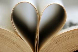 book with pages in shape of a heart